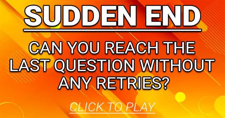 Sudden End