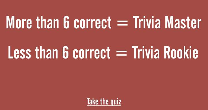 Are you a real Trivia Master?